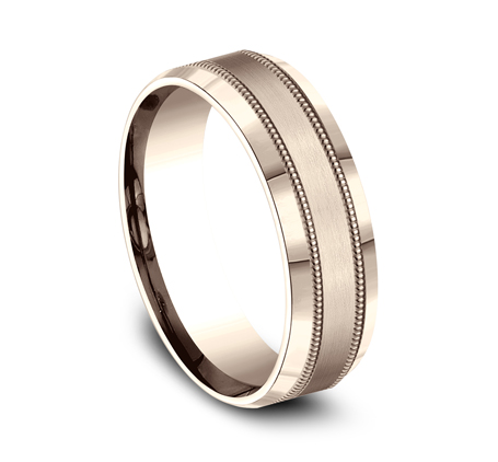 7MM ROSE GOLD COMFORT FIT BAND CF67438R 1 - 7MM ROSE GOLD COMFORT-FIT BAND CF67438R