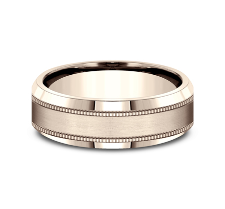 7MM ROSE GOLD COMFORT FIT BAND CF67438R 2 - 7MM ROSE GOLD COMFORT-FIT BAND CF67438R