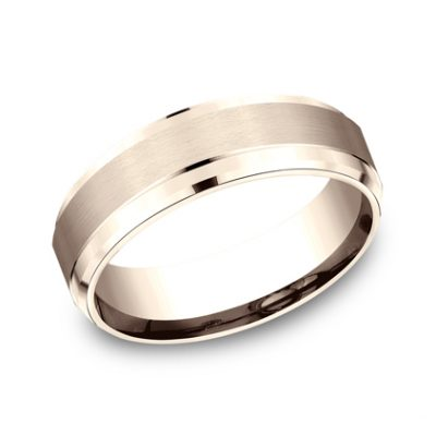 7MM ROSE GOLD COMFORT FIT SATIN FINISHED BAND CF67351R 400x400 - 7MM ROSE GOLD COMFORT-FIT SATIN-FINISHED BAND CF67351R