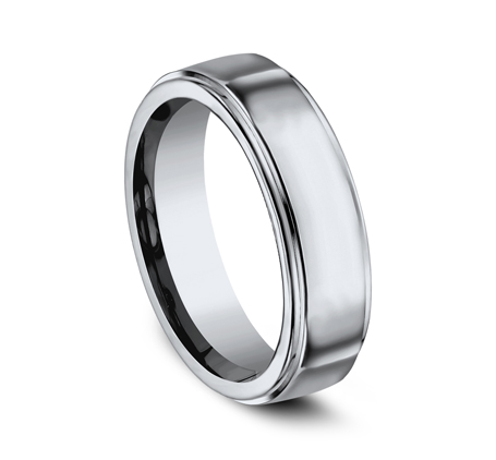 7MM TITANIUM COMFORT FIT HIGH POLISHED BAND 570T 1 - 7MM TITANIUM COMFORT-FIT HIGH POLISHED BAND 570T