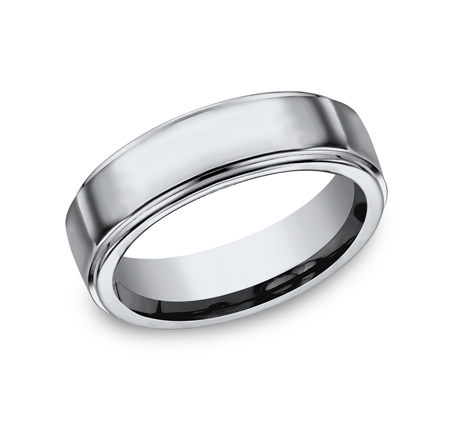 7MM TITANIUM COMFORT FIT HIGH POLISHED BAND 570T - 7MM TITANIUM COMFORT-FIT HIGH POLISHED BAND 570T
