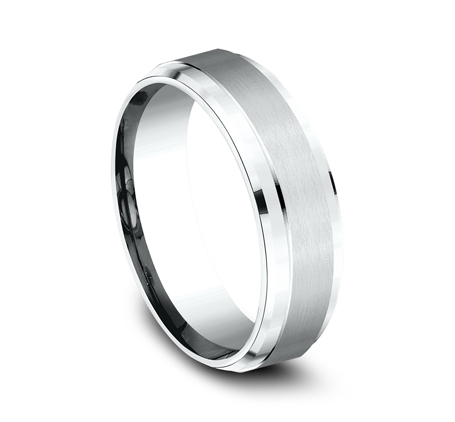 7MM WHITE GOLD COMFORT FIT SATIN FINISHED BAND CF67351W 1 - 7MM WHITE GOLD COMFORT-FIT SATIN-FINISHED BAND CF67351W