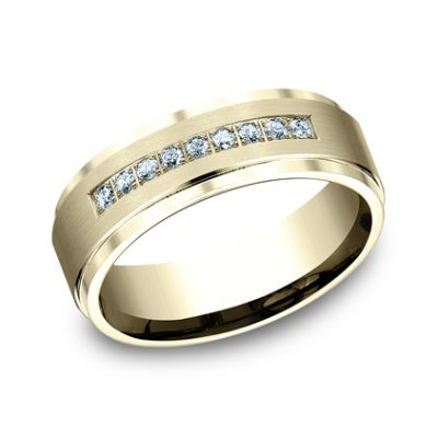 7MM YELLOW GOLD COMFORT FIT PAVE SET BAND CF67380Y 400x400 - 7MM YELLOW GOLD COMFORT-FIT PAVE SET BAND CF67380Y