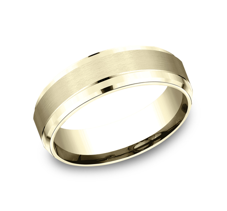 7MM YELLOW GOLD COMFORT FIT SATIN FINISHED BAND CF67351Y - 7MM YELLOW GOLD COMFORT-FIT SATIN-FINISHED BAND CF67351Y