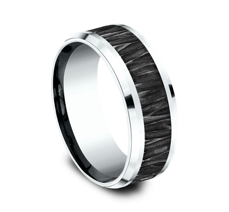 8MM 14K WHITE GOLD DESIGN BAND CF458671BKTW 1 - 8MM 14K WHITE GOLD DESIGN BAND CF458671BKTW