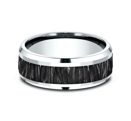 8MM 14K WHITE GOLD DESIGN BAND CF458671BKTW 2 - 8MM 14K WHITE GOLD DESIGN BAND CF458671BKTW