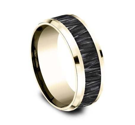 8MM 14K YELLOW GOLD DESIGN BAND CF448671BKTY 1 - 8MM 14K YELLOW GOLD DESIGN BAND CF448671BKTY