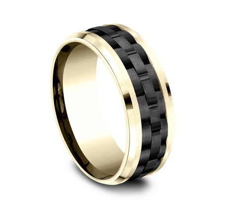 8MM 14K YELLOW GOLD DESIGN BAND CF448672BKTY 1 - 8MM 14K YELLOW GOLD DESIGN BAND CF448672BKTY