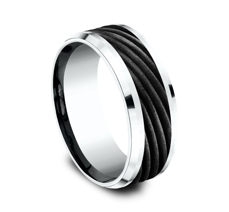 8MM BLACK TITANIUM BAND CF458744BKTW 1 - 8MM BLACK TITANIUM BAND CF458744BKTW