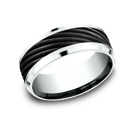 8MM BLACK TITANIUM BAND CF458744BKTW - 8MM BLACK TITANIUM BAND CF458744BKTW