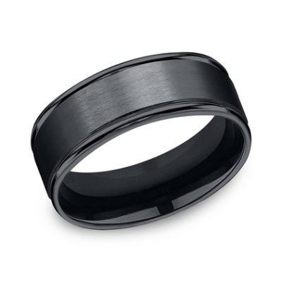 8MM CERAMIC COMFORT FIT SATIN FINISHED BAND RECF7802SCM 400x400 - 8MM CERAMIC COMFORT-FIT SATIN-FINISHED BAND RECF7802SCM