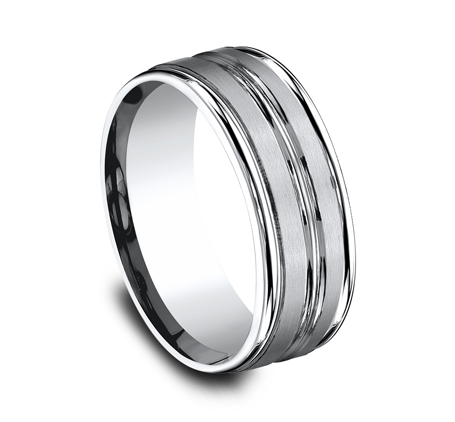 8MM COBALT COMFORT FIT SATIN FINISHED BAND RECF58180CC 2 - 8MM COBALT COMFORT-FIT SATIN-FINISHED BAND RECF58180CC