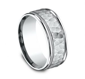 8MM COMFORT FIT CARVED DESIGN BAND CF158309W 1 300x278 - 8MM COMFORT-FIT CARVED DESIGN BAND CF158309W 1