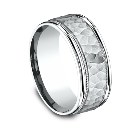 8MM COMFORT FIT CARVED DESIGN BAND CF158309W 1 - 8MM COMFORT-FIT CARVED DESIGN BAND CF158309W