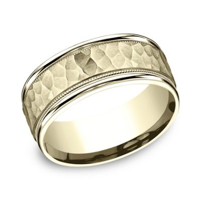 8MM COMFORT FIT CARVED DESIGN BAND CF158309Y 400x400 - 8MM COMFORT-FIT CARVED DESIGN BAND CF158309Y