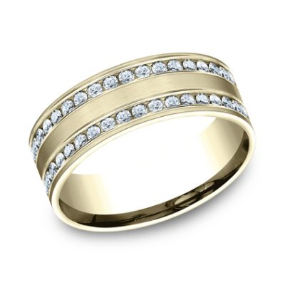 8MM COMFORT FIT CHANNEL SET BRUSHED DIAMOND ETERNITY BAND CF528551Y 400x400 - 8MM COMFORT-FIT CHANNEL SET BRUSHED DIAMOND ETERNITY BAND CF528551Y