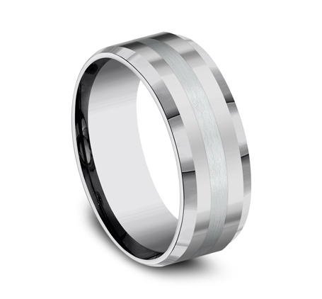 8MM COMFORT FIT TUNGSTEN BAND CF6842618KWTG 1 - 8MM COMFORT-FIT TUNGSTEN BAND CF6842618KWTG
