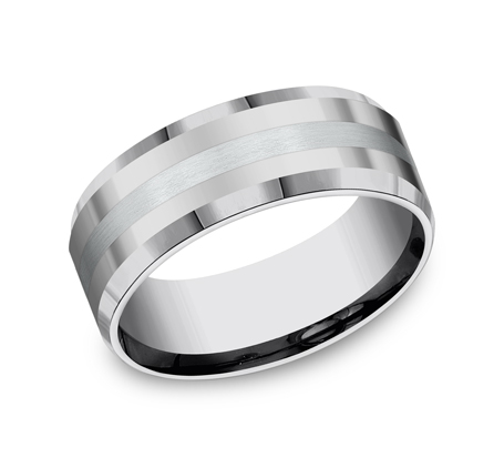 8MM COMFORT FIT TUNGSTEN BAND CF6842618KWTG - 8MM COMFORT-FIT TUNGSTEN BAND CF6842618KWTG
