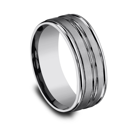 8MM COMFORT FIT TUNGSTEN BAND RECF58180TG 1 - 8MM COMFORT-FIT TUNGSTEN BAND RECF58180TG