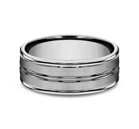 8MM COMFORT FIT TUNGSTEN BAND RECF58180TG 2 - 8MM COMFORT-FIT TUNGSTEN BAND RECF58180TG