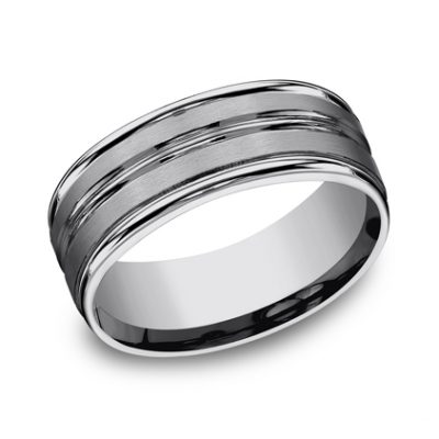 8MM COMFORT FIT TUNGSTEN BAND RECF58180TG 400x400 - 8MM COMFORT-FIT TUNGSTEN BAND RECF58180TG
