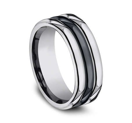 8MM COMFORT FIT TUNGSTEN BAND RECF78862CMTG 1 - 8MM COMFORT-FIT TUNGSTEN BAND RECF78862CMTG