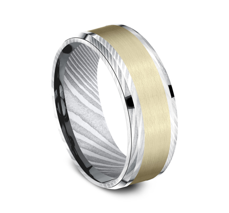 8MM DAMASCUS STEEL DESIGN BAND CF298813DSY 1 - 8MM DAMASCUS STEEL DESIGN BAND CF298813DSY