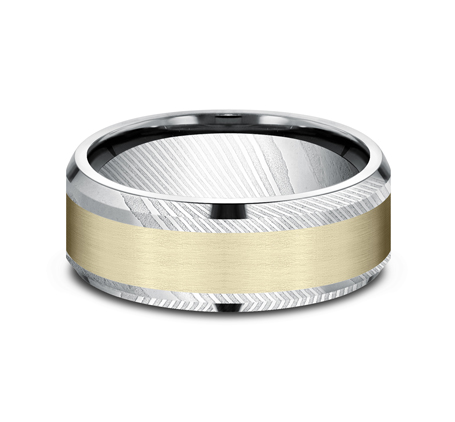 8MM DAMASCUS STEEL DESIGN BAND CF298813DSY 2 - 8MM DAMASCUS STEEL DESIGN BAND CF298813DSY