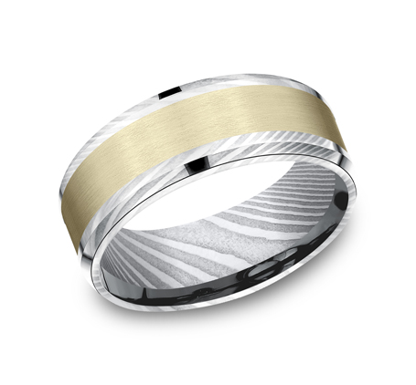 8MM DAMASCUS STEEL DESIGN BAND CF298813DSY - 8MM DAMASCUS STEEL DESIGN BAND CF298813DSY