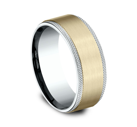 8MM MULTI GOLD COMFORT FIT BAND CF208749 1 - 8MM MULTI-GOLD COMFORT-FIT BAND CF208749