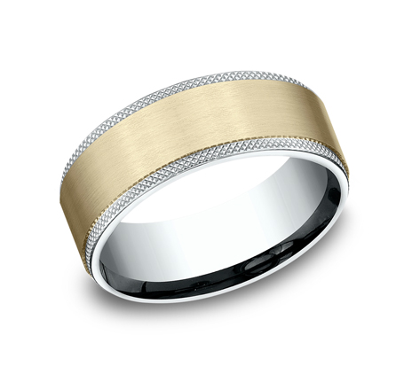 8MM MULTI GOLD COMFORT FIT BAND CF208749 - 8MM MULTI-GOLD COMFORT-FIT BAND CF208749