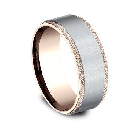 8MM MULTI GOLD COMFORT FIT BAND CF268749 1 - 8MM MULTI-GOLD COMFORT-FIT BAND CF268749
