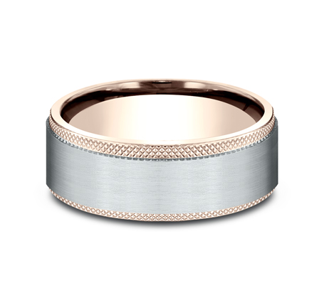 8MM MULTI GOLD COMFORT FIT BAND CF268749 2 - 8MM MULTI-GOLD COMFORT-FIT BAND CF268749
