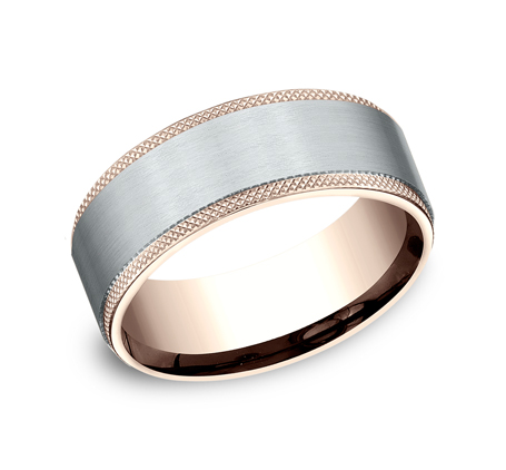 8MM MULTI GOLD COMFORT FIT BAND CF268749 - 8MM MULTI-GOLD COMFORT-FIT BAND CF268749