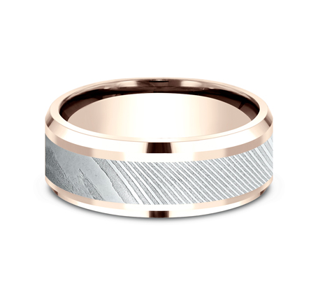 8MM ROSE GOLD DESIGN BAND CF358814DSR 2 - 8MM ROSE GOLD DESIGN BAND CF358814DSR