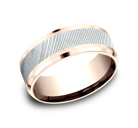 8MM ROSE GOLD DESIGN BAND CF358814DSR - 8MM ROSE GOLD DESIGN BAND CF358814DSR