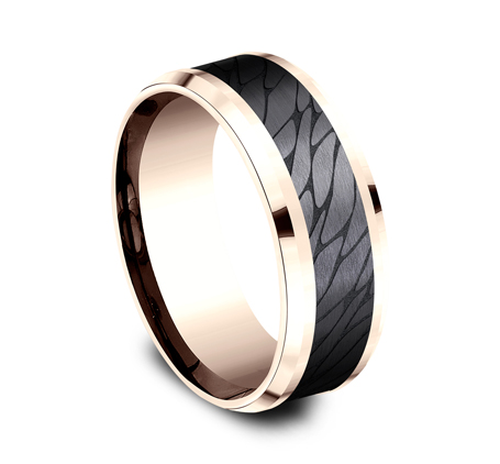 8MM ROSE GOLD DESIGN BAND CF968815BKTR 1 - 8MM ROSE GOLD DESIGN BAND CF968815BKTR