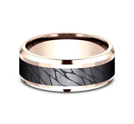 8MM ROSE GOLD DESIGN BAND CF968815BKTR 2 - 8MM ROSE GOLD DESIGN BAND CF968815BKTR