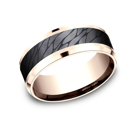 8MM ROSE GOLD DESIGN BAND CF968815BKTR - 8MM ROSE GOLD DESIGN BAND CF968815BKTR