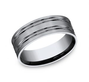 8MM TITANIUM COMFORT FIT SATIN FINISHED BAND CF68423T 300x278 - 8MM TITANIUM COMFORT-FIT SATIN-FINISHED BAND CF68423T