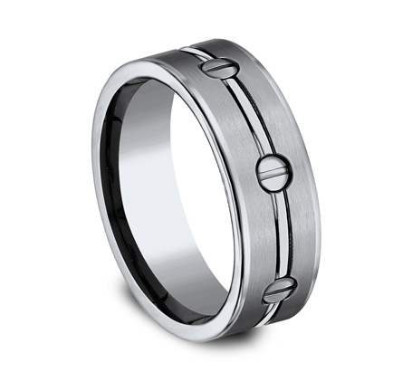 8MM TITANIUM COMFORT FIT SATIN FINISHED BAND CF68991T 1 - 8MM TITANIUM COMFORT-FIT SATIN-FINISHED BAND CF68991T
