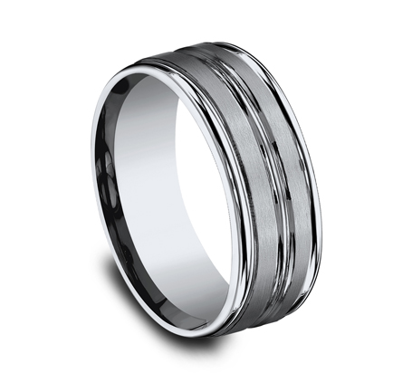 8MM TITANIUM COMFORT FIT SATIN FINISHED BAND RECF58180T 1 - 8MM TITANIUM COMFORT-FIT SATIN-FINISHED BAND RECF58180T