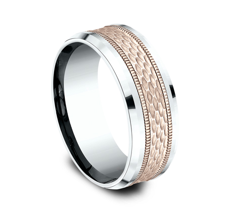 8MM TWO TONE DESIGN BAND CF438497 1 - 8MM TWO TONE DESIGN BAND CF438497