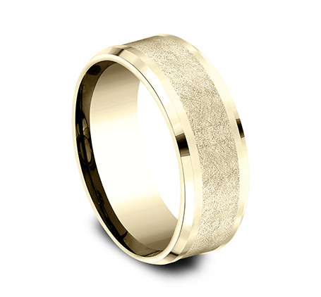 8MM YELLOW GOLD BAND CF408070Y 1 - 8MM YELLOW GOLD BAND CF408070Y