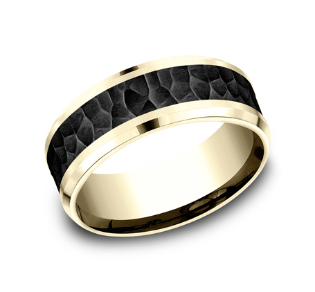 8MM YELLOW GOLD COMFORT FIT BAND CF448753BKTY - 8MM YELLOW GOLD COMFORT-FIT BAND CF448753BKTY