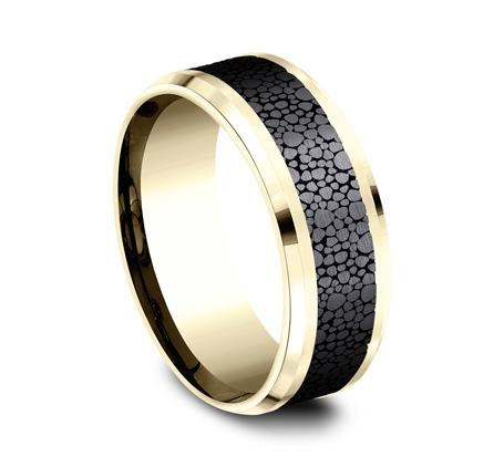8MM YELLOW GOLD DESIGN BAND 1 - 8MM YELLOW GOLD DESIGN BAND CF948852BKTY