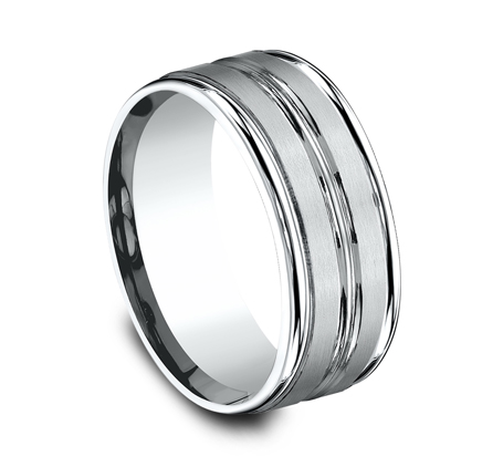 9MM ARGENTIUM SILVER COMFORT FIT BAND RECF59180SV 1 - 9MM ARGENTIUM SILVER COMFORT-FIT BAND RECF59180SV