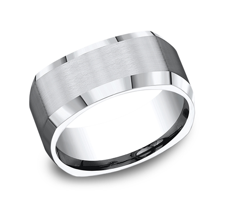 9MM COBALT COMFORT FIT FOUR SIDED BAND CF69480CC - 9MM COBALT COMFORT-FIT FOUR-SIDED BAND CF69480CC