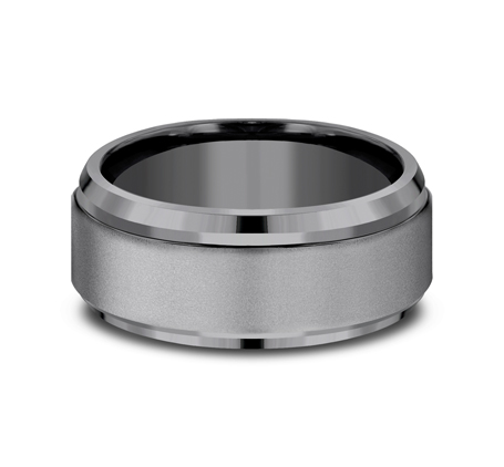 9MM COMFORT FIT AND POWDER COATED FINISH TANTALUM BAND CF69486TA 2 - 9MM COMFORT-FIT AND POWDER COATED FINISH TANTALUM BAND CF69486TA