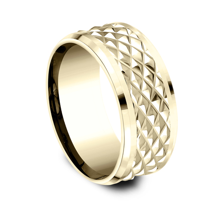 9MM YELLOW GOLD DESIGN BAND CF409679Y 1 - 9MM YELLOW GOLD DESIGN BAND CF409679Y